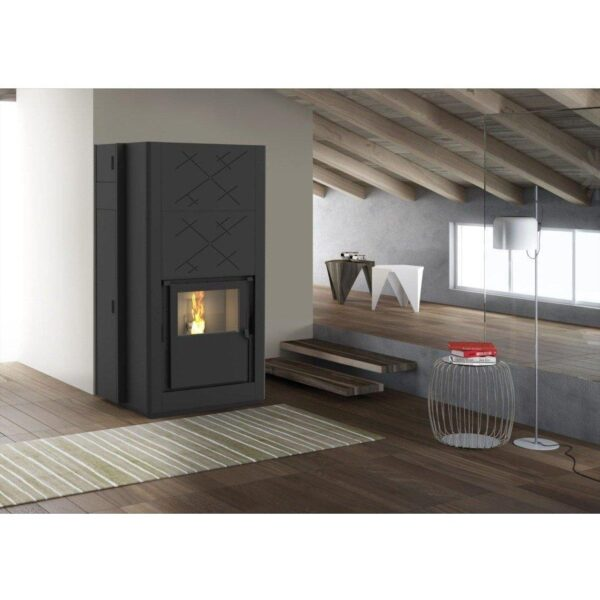 Inserto a pellet Air Force One Plus potenza 28 kW aria